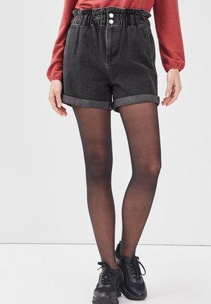 Short en jean - denim noir