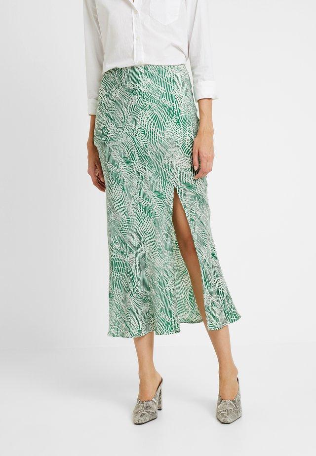 ANIMAL BIAS - Áčková sukně - green