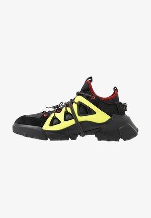 ORBYT MID - Sneakersy niskie - black/neon/multicolor