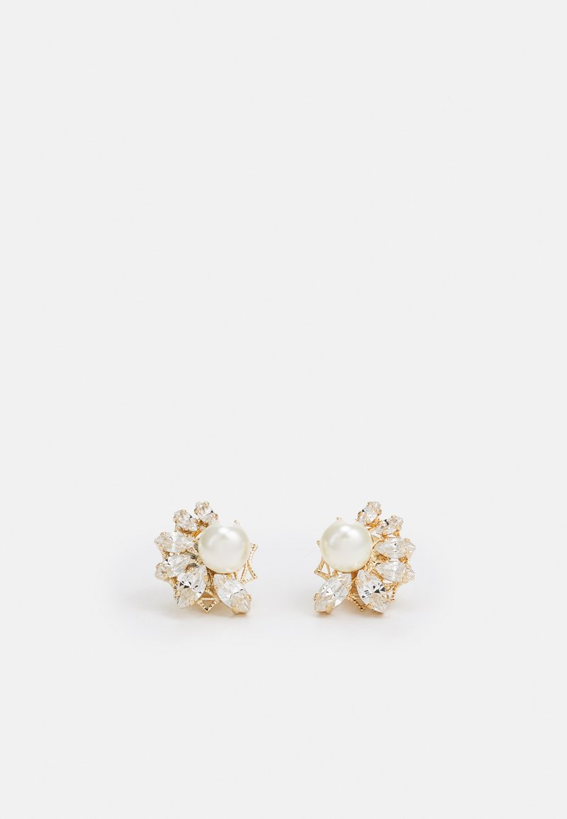 Anton Heunis - OMEGA CLASP SMALL CRYSTAL CLUSTER - Earrings - cream