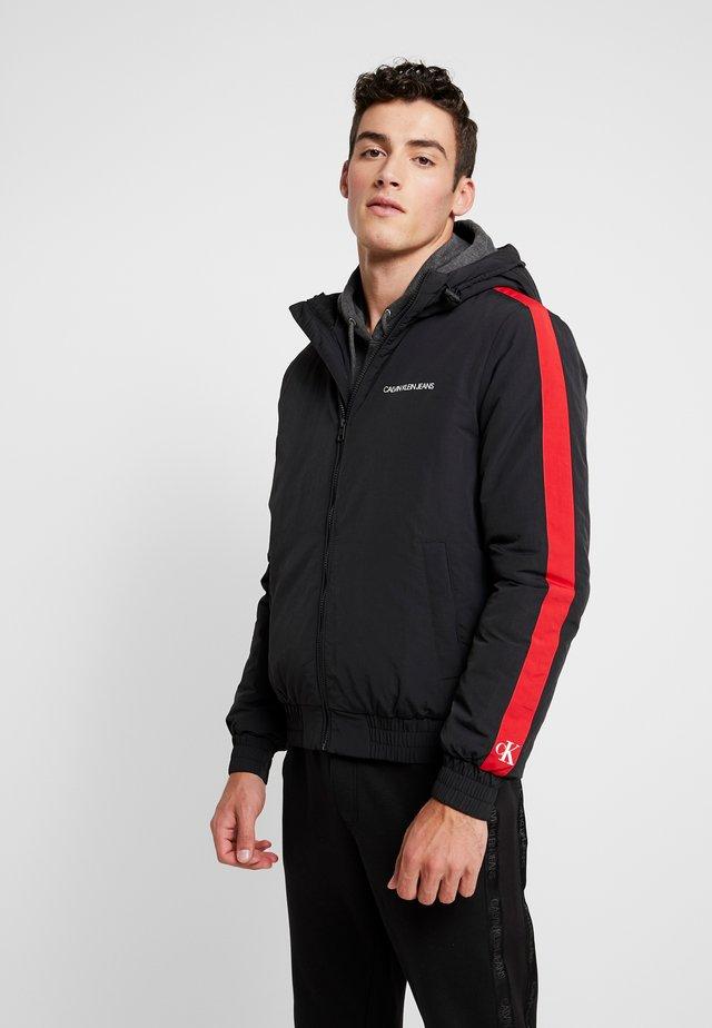 PADDED JACKET - Winter jacket - black/racing red