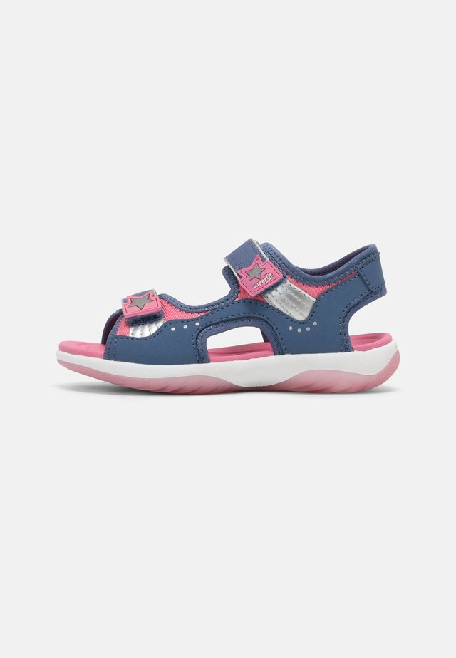 Sandalen - blau/rosa