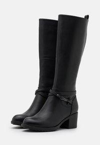 Anna Field - LEATHER - Vysoká obuv - black - 2