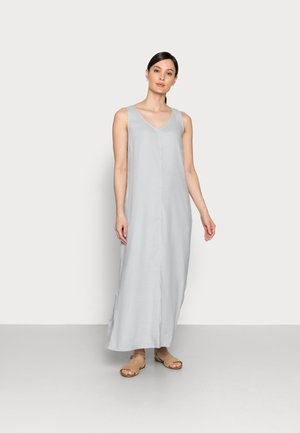 DRESS RELAXED TANK STYLE V-NECK SLITS - Maxi dress - spring water