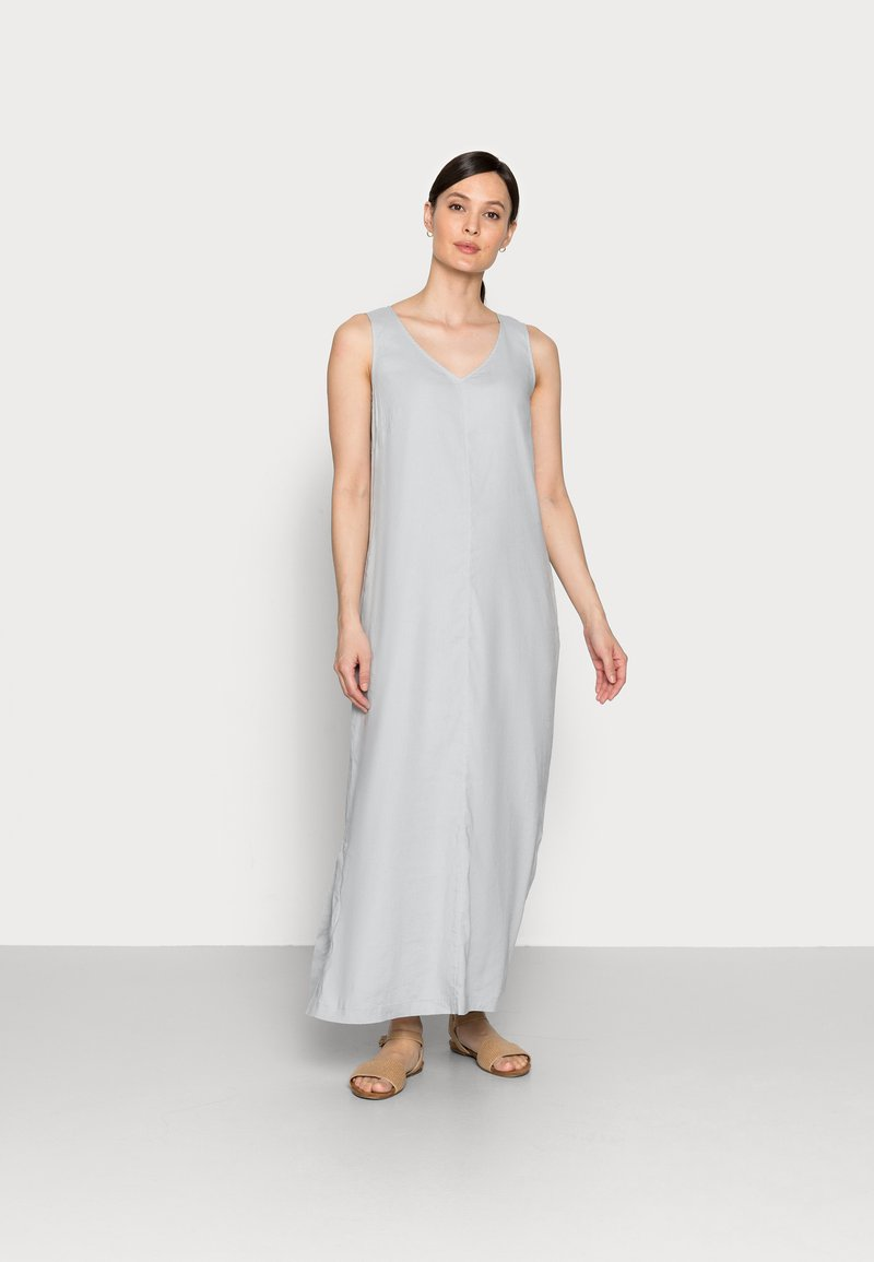 Marc O'Polo - DRESS RELAXED TANK STYLE V-NECK SLITS - Maxi dress - spring water
