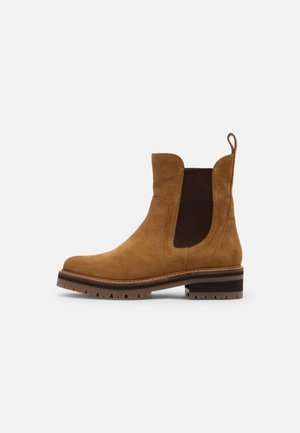 LEATHER - Classic ankle boots - mustard yellow