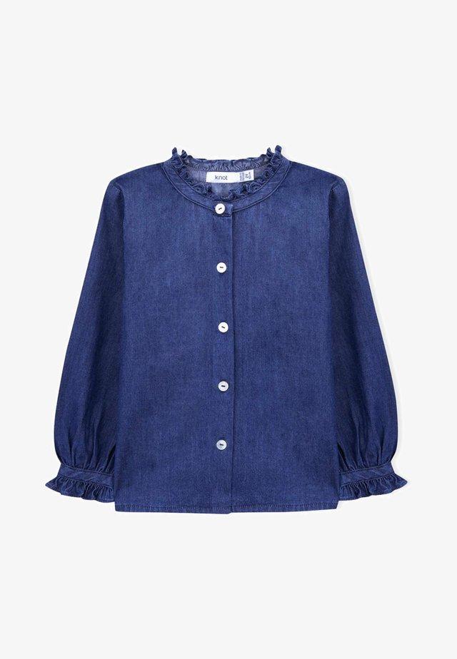 Button-down blouse - medium denim