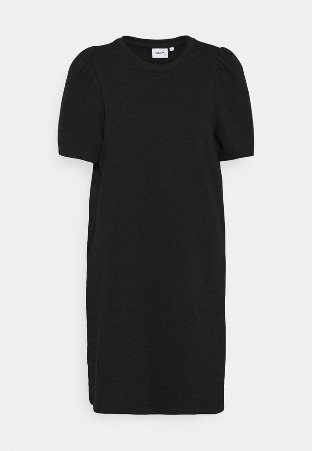 ONLDIANNA LIFE O-NECK DRESS - Denní šaty - black