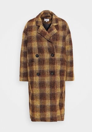 NUBETHIA COAT - Kåpe / frakk - leather brown