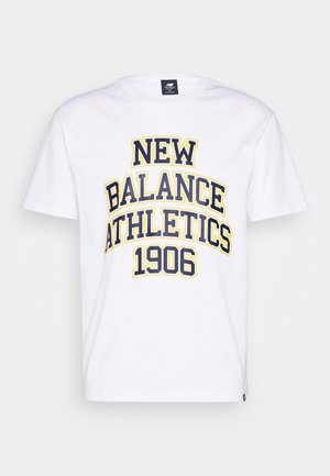ATHLETICS VARSITY SPEC TEE - Printtipaita - white