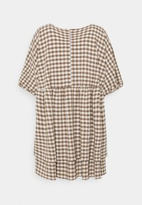 Weekday - HEDVIG DRESS - Day dress - brown check - 1