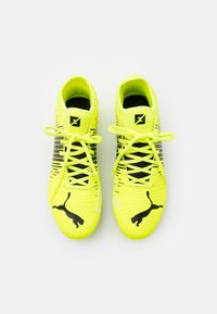 Puma - FUTURE Z 4.1 FG/AG - Moulded stud football boots - yellow alert/black/white - 3