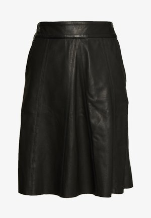 ADALYN SKIRT - Leather skirt - black