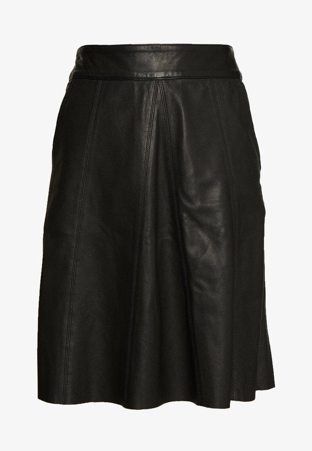 ADALYN SKIRT - Leather skirt - black