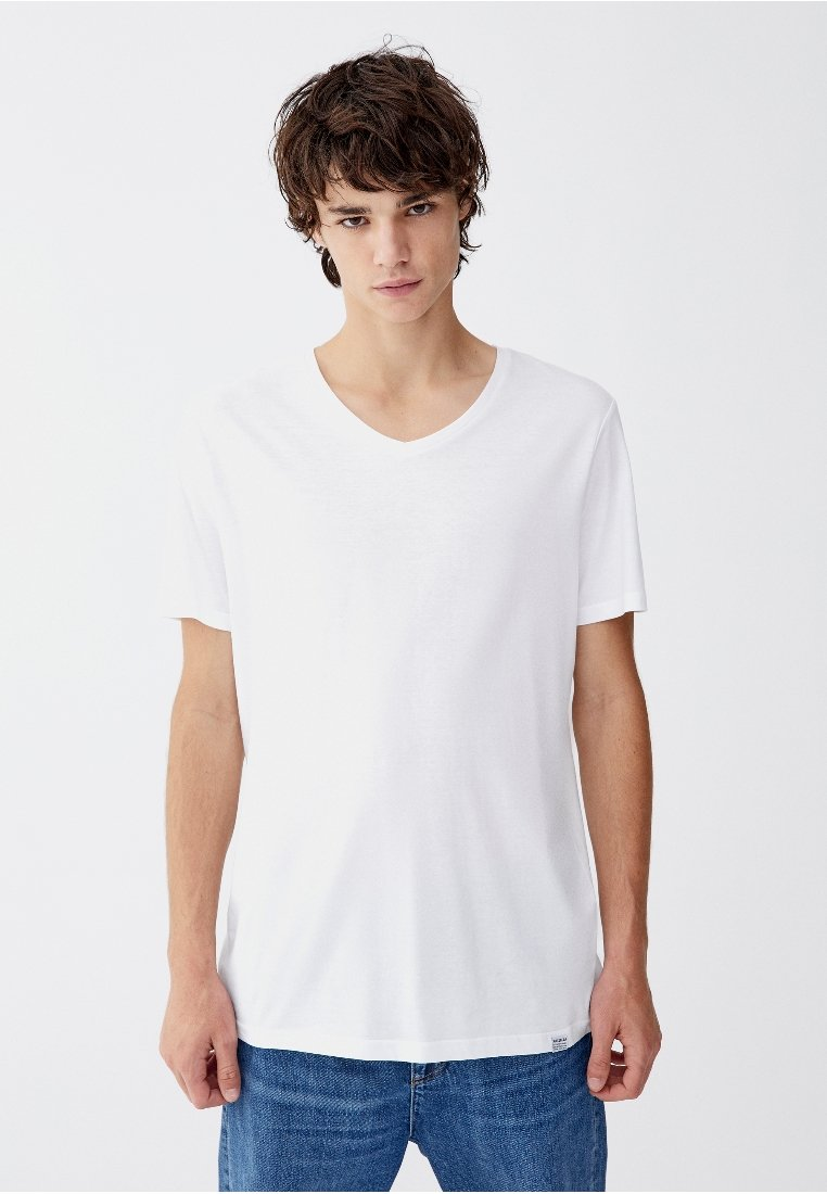 PULL&BEAR - Basic T-shirt - white