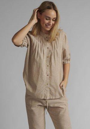 Button-down blouse - warm sand