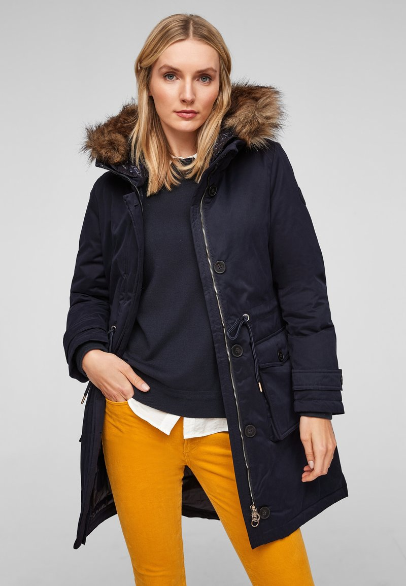 s.Oliver - MIT DOPPELKAPUZE - Winter coat - navy