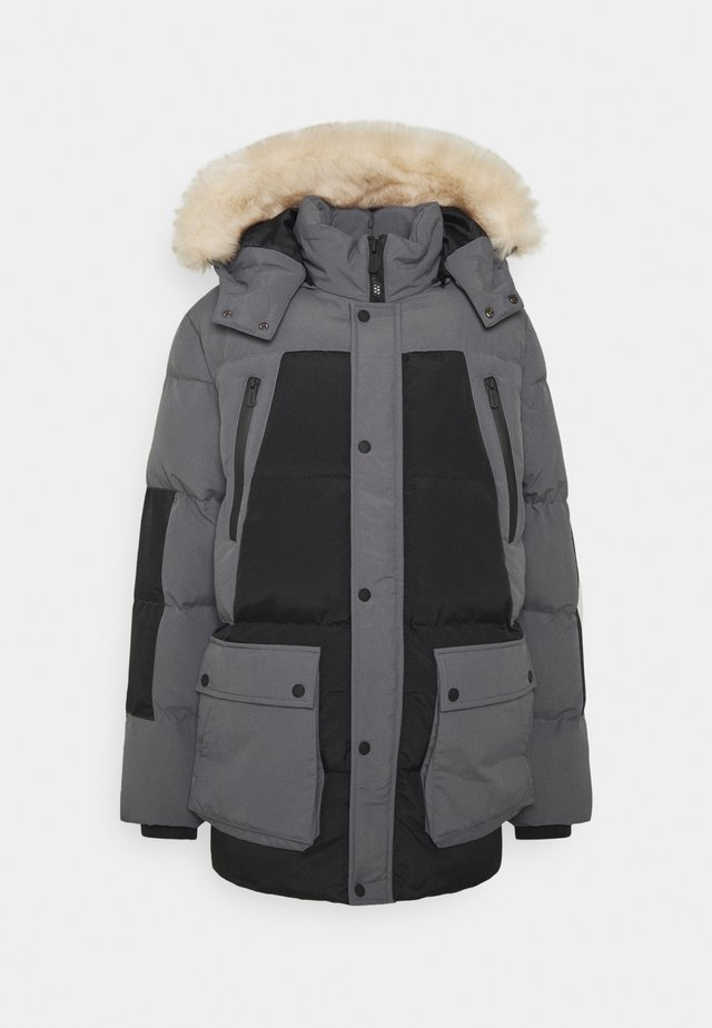 ASTER BLOCK JACKET - Parkas - black/charcoal