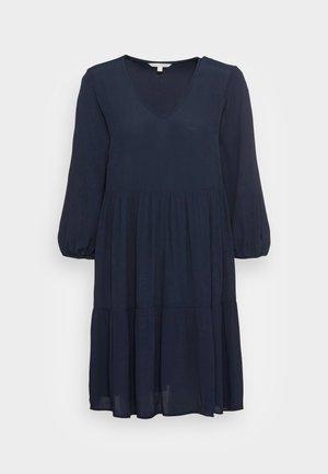 V NECK BABYDOLL DRESS - Day dress - sky captain blue