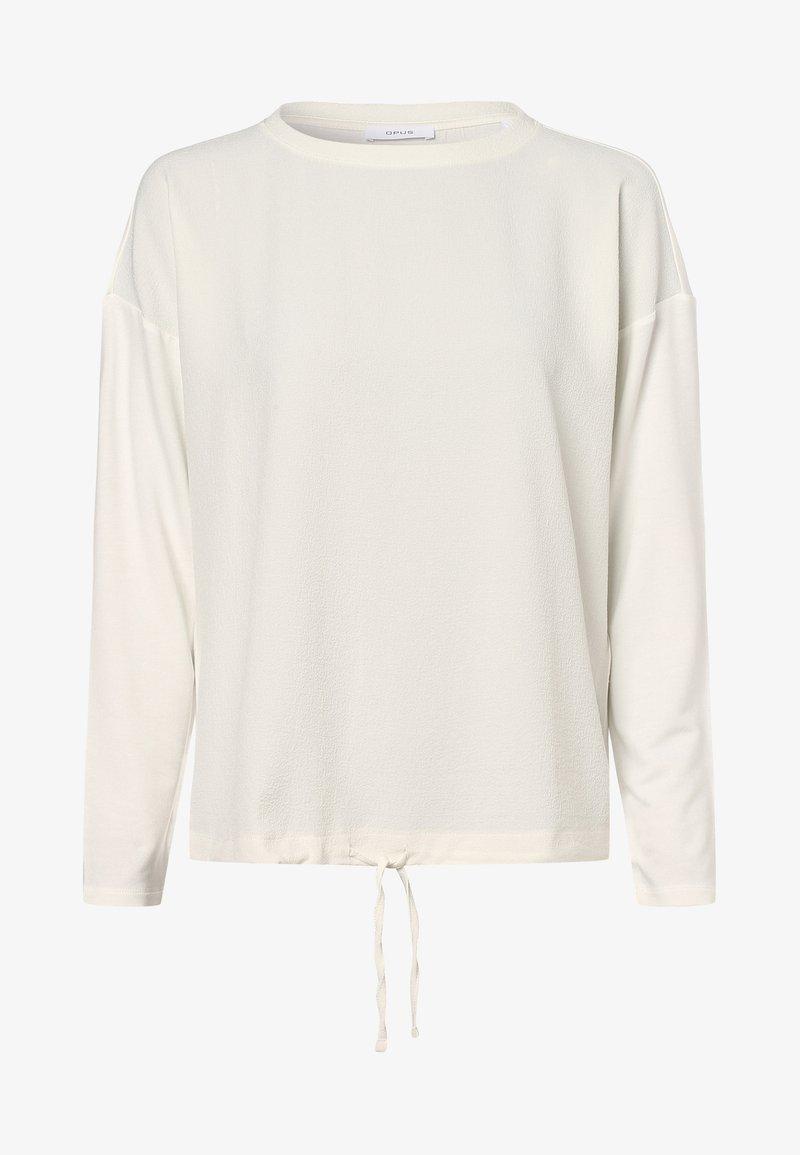 Opus - Long sleeved top - ecru