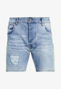 Brave Soul - JACKTAPE - Short en jean - blue wash/yellow stripe - 4