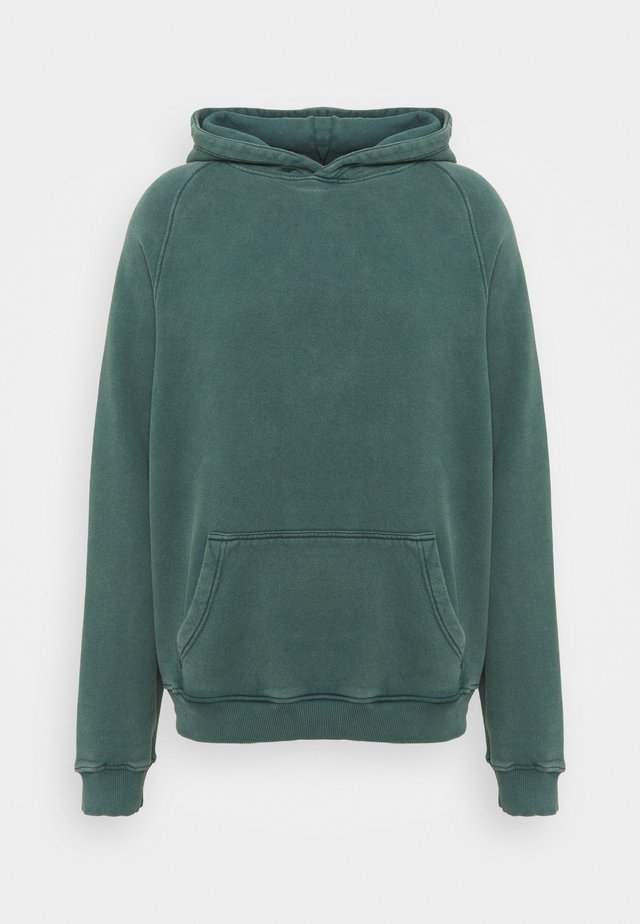 HEAVYWEIGHT HOODED RAGLAN - Sweat à capuche - fade out green