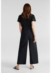 Esprit Collection - FASHION CULOTTE - Trousers - black - 2
