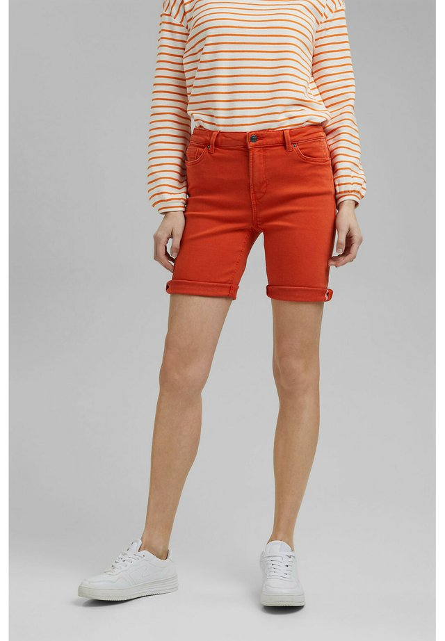 Shorts di jeans - orange red