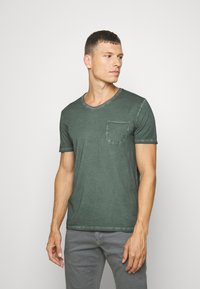 Marc O'Polo - SHORT SLEEVE RAW - Basic T-shirt - mangrove - 0
