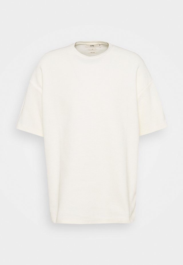 WAFFLE OVERSIZED T - T-shirt basique - off white