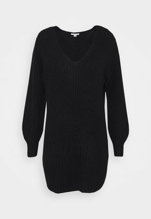 OPEN VEE HILO SWEATER DRESS - Jumper dress - black