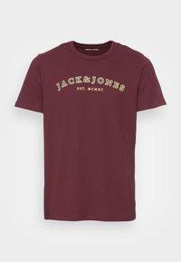JJCROSS CREW NECK - Print T-shirt - port royale