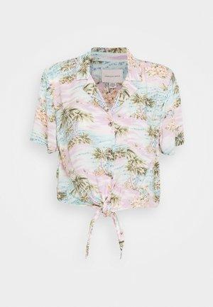 CORE TROPICAL - Button-down blouse - light blue