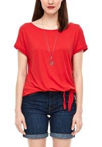 s.Oliver - KURZARM - Basic T-shirt - luminous red - 3