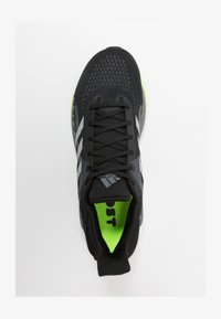 adidas Performance - SOLAR GLIDE BOOST SHOES - Neutral running shoes - core black/silver metallic/signal green - 1