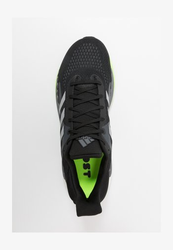 SOLAR GLIDE BOOST SHOES - Neutral running shoes - core black/silver metallic/signal green