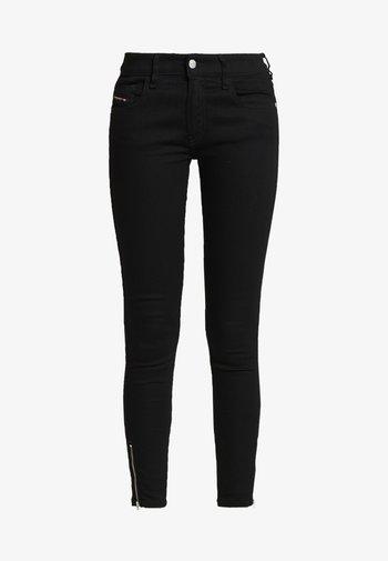 SLANDY LOW ZIP - Jeans Skinny Fit - black