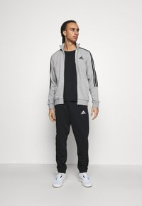adidas Performance - Tuta - medium grey heather/black - 1