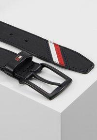 Tommy Hilfiger - DENTON STRIPE - Belt - black - 2