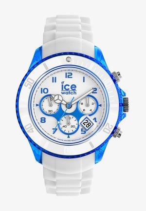 PARTY CURAÇAO BIG - Chronograph watch - weiß/blau