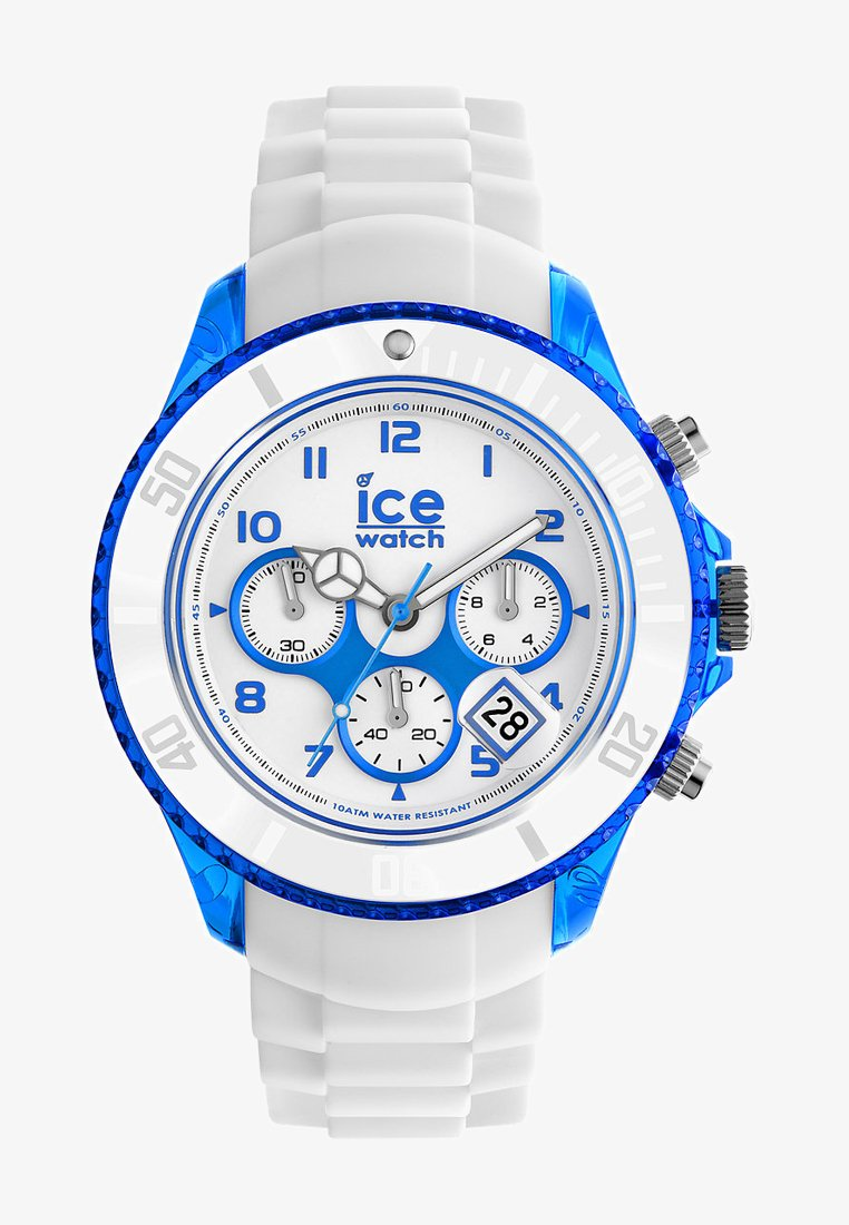 Ice Watch - PARTY CURAÇAO BIG - Chronograph watch - weiß/blau