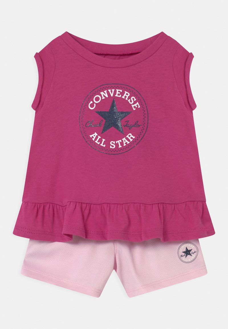 Converse - CHUCK PATCH SET - T-shirt con stampa - active fuchsia