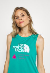 The North Face - WOMENS GLACIER TANK - Sports shirt - jaiden green - 3