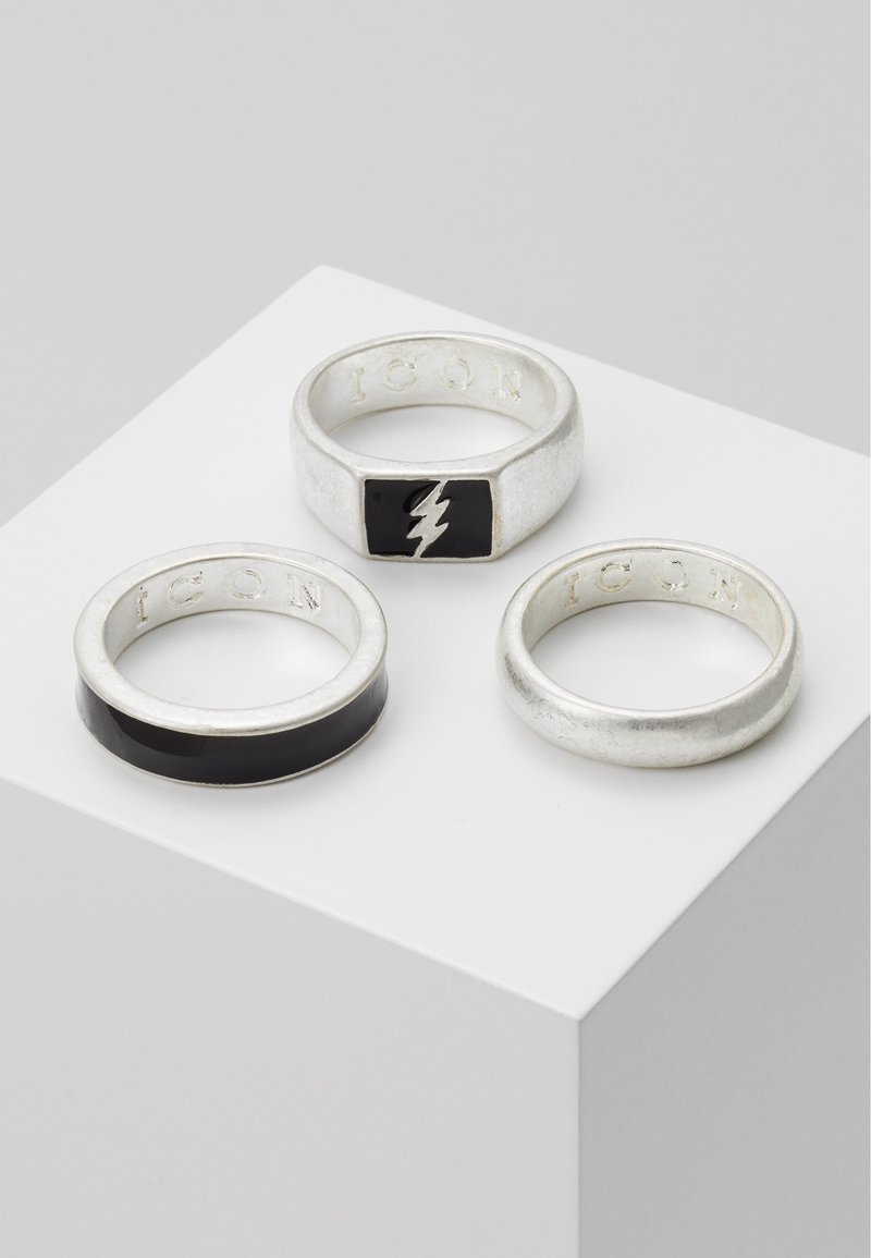 Icon Brand - LIGHTNING 3 PACK - Ring - silver-coloured