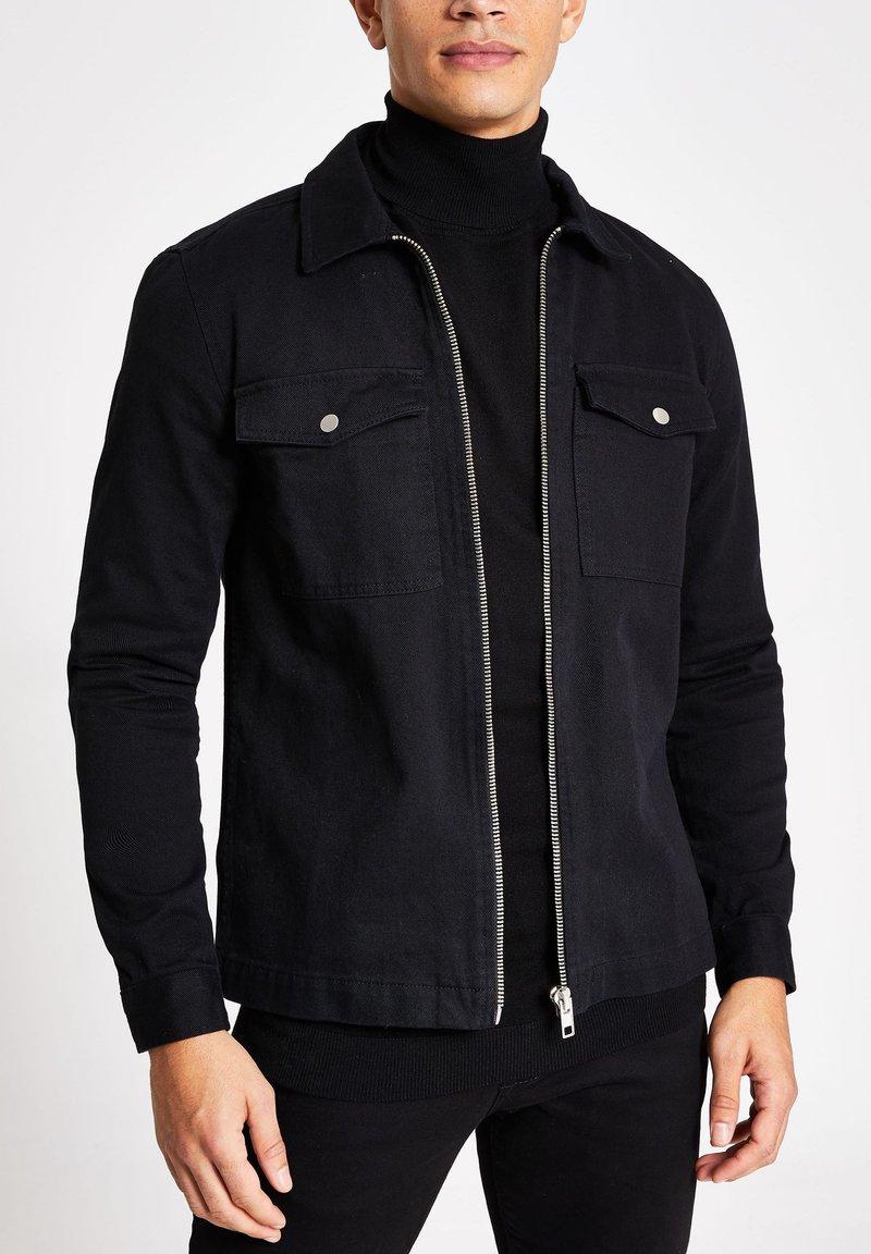 River Island - Denim jacket - black
