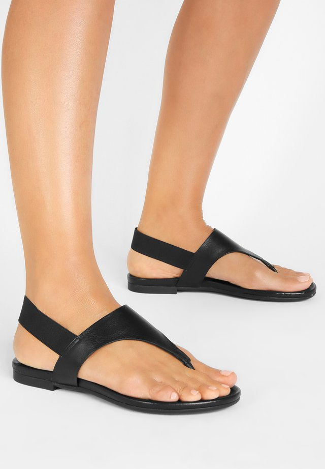 T-bar sandals - black blk