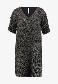 SLEEVE DETAIL DRESS - Denní šaty - black/multicolor