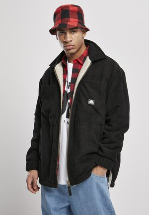 CORDUROY SHERPA - Fleece jacket - black