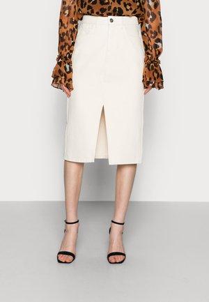 PACIFIC SKIRT - Denim skirt - off white