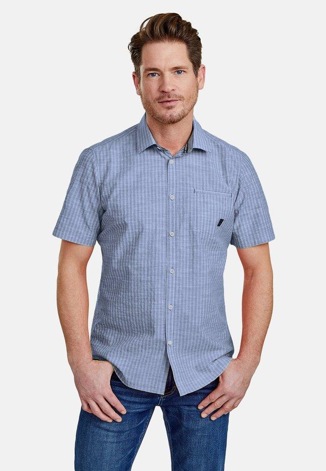 SEERSUCKER  - Shirt - true blue